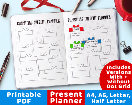 Present Planner Printable from The Digital Download Shop