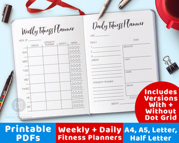 2 Fitness Planner Printables