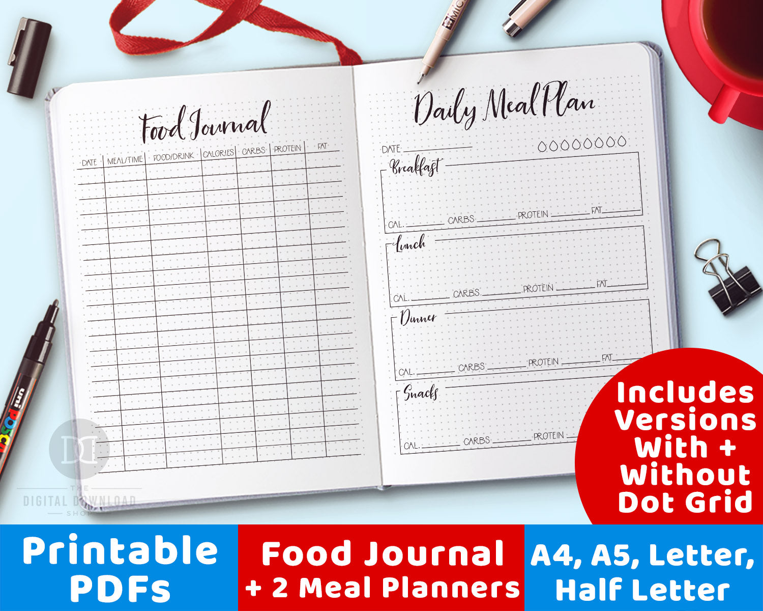 This is an image of Food Journal Printable in exercise