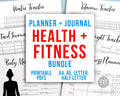 Bullet Journal Health and Fitness Planner Printable Bundle