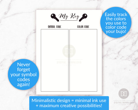 photo relating to Bullet Journal Symbols Printable identify Totally free Printable Bullet Magazine Magic formula Web site- Electronic Down load