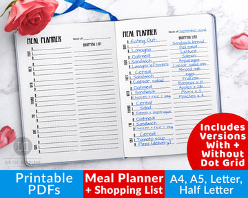 Meal Planner + Shopping List Printable