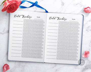 Bullet Journal Mini Habit Trackers Printable- 12