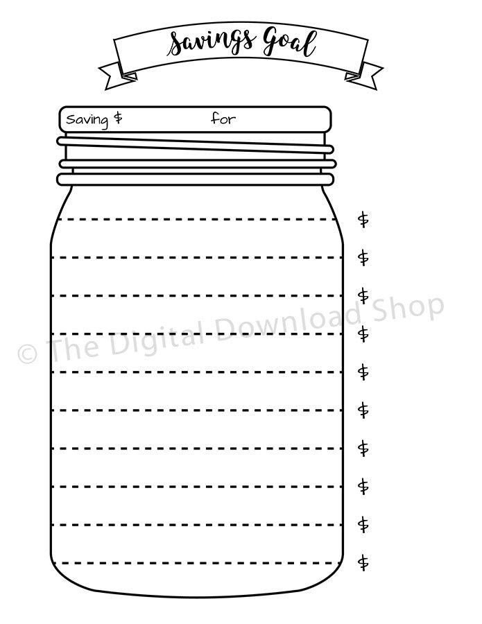 This is a photo of Tactueux Savings Jar Printable