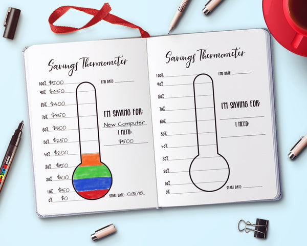 Savings Thermometer Printable