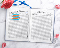 Sleep tracker printable for bullet journals and other planners. Use this 31 day sleep pattern planner printable to make a sleep log and track your sleeping habits!