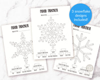 3 Bullet Journal Snowflake Mood Trackers
