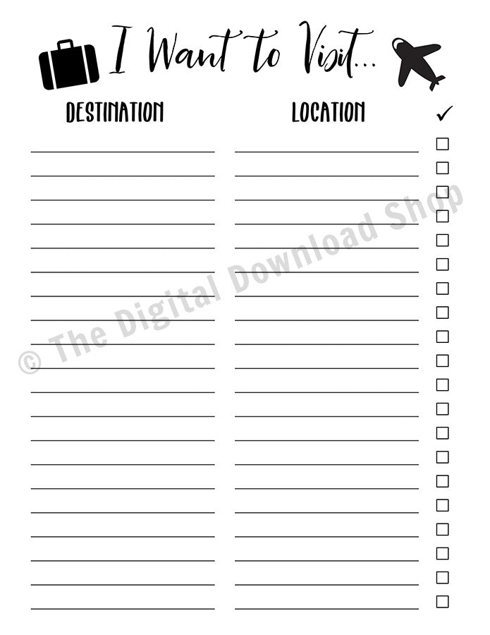 image relating to Bucket List Printable named Push Bucket Record Printable
