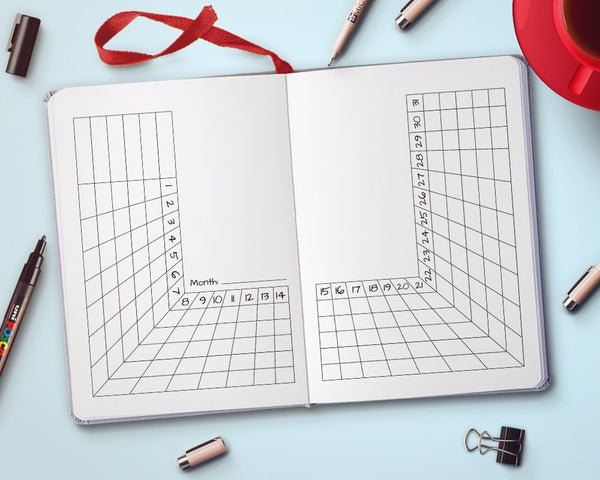 Bullet Journal Tracker Printable- U Shape