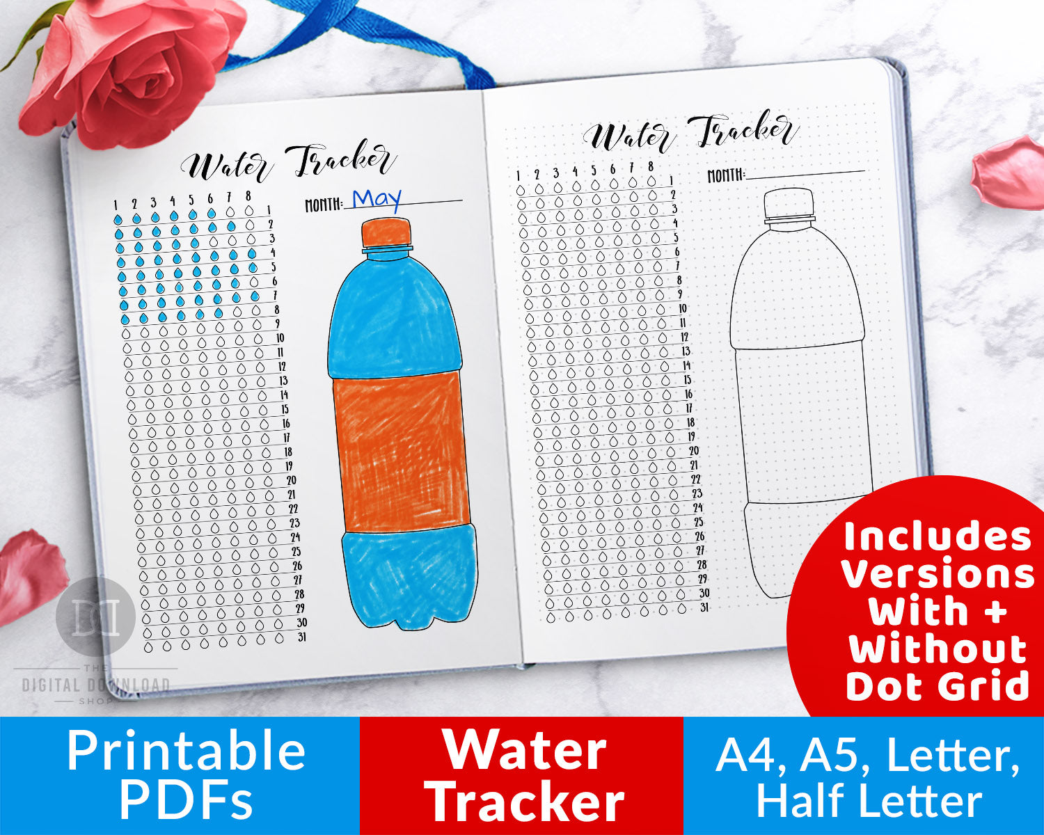 photo about Printable Water Tracker named Hydration Tracker Bullet Magazine Printable
