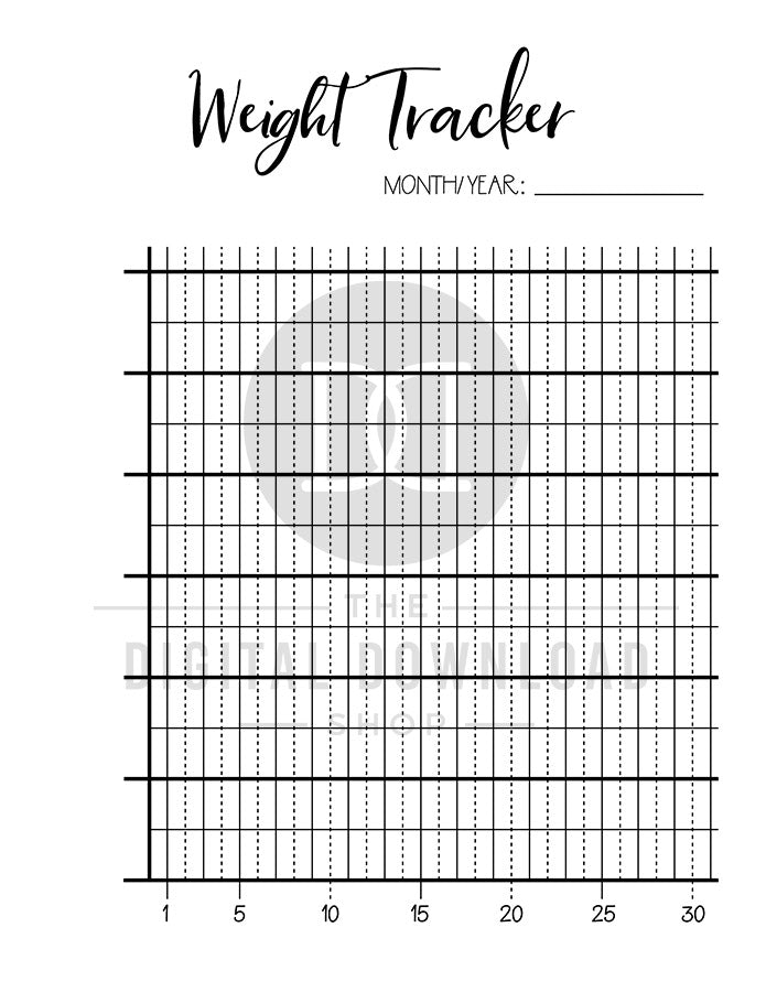 image about Weight Tracker Printable called 2 Pounds Tracker Printables The Electronic Obtain Retail store