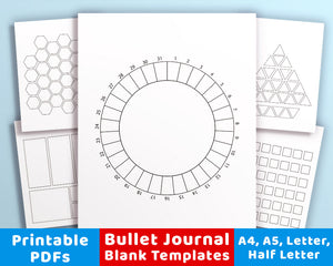 20 Bullet Journal Template Printables
