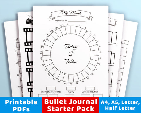Bullet Journal Printables Starter Pack