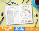 2 Bullet Journal Mood Trackers Printables- The Digital Download Shop