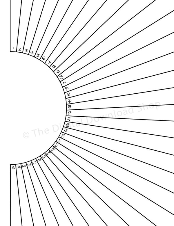 image regarding Printable Pictures of the Sun named Bullet Magazine Pattern Tracker Printable- Sunshine