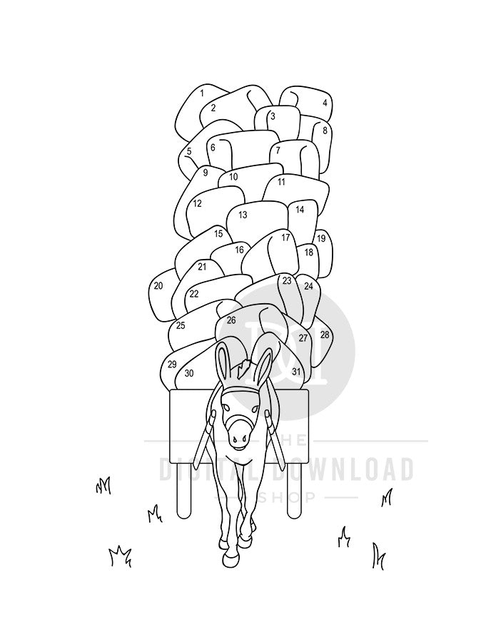 image regarding Mood Tracker Printable identified as Donkey Temper Tracker Printable- Coloration by way of Temper