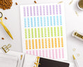 Checklist Printable Planner Stickers