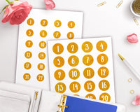 Christmas Advent Calendar Printable Stickers