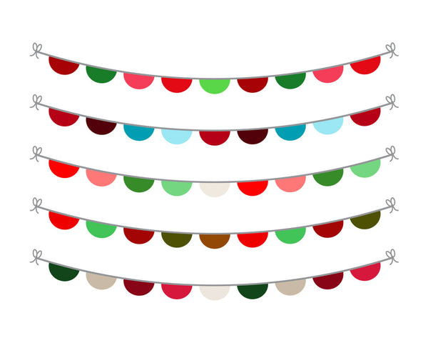 Christmas Bunting Clipart