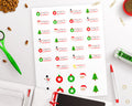 Christmas Countdown Printable Planner Stickers- Tab