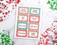 Vintage Christmas Labels Editable Printable