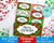 Christmas Labels Printable Editable- Narrow Rectangles
