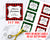 Buffalo Check Editable Christmas Tags- Square