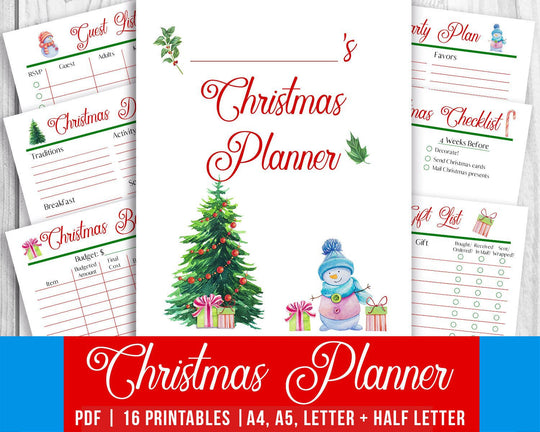 Christmas Planner Printable from The Digital Download Shop