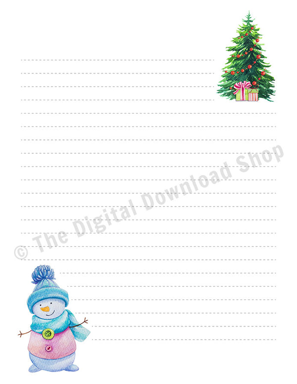 3 Christmas Stationery Printables