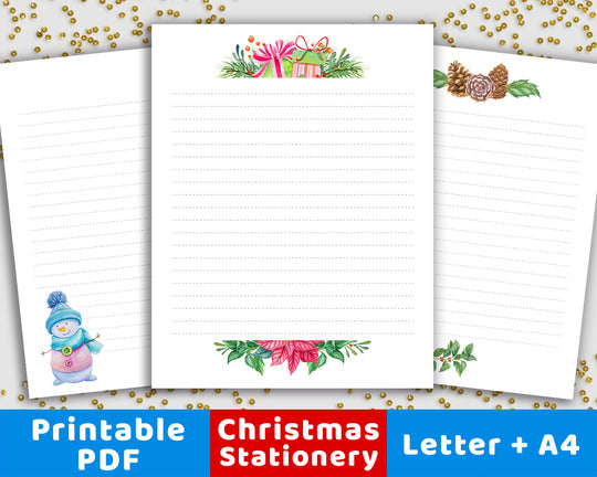 Christmas Stationery Printable from The Digital Download Shop