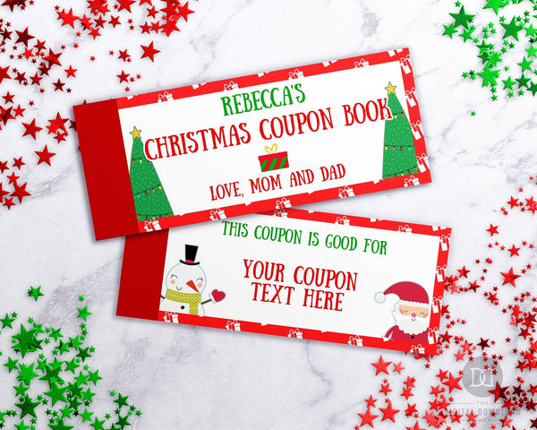 Christmas Coupon Book Template- Characters