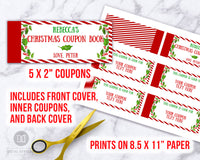 Christmas Coupon Book Editable Printable