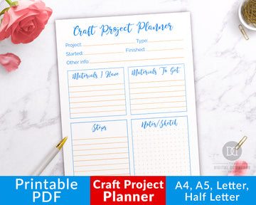 Craft Project Planner Printable