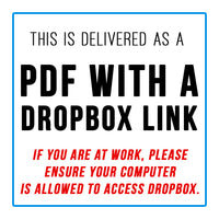 This product is delivered as a PDF with a Dropbox link