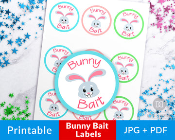 Bunny Bait Stickers Printable
