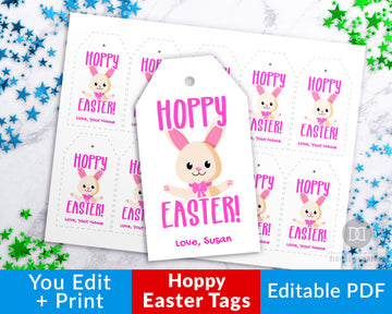 Easter Tags Printable- Hoppy Easter