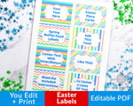 Easter Labels Printable- Rectangle