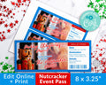Nutcracker Ballet Ticket Printable *EDIT ONLINE*