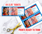 Nutcracker Ballet Ticket Template Printable