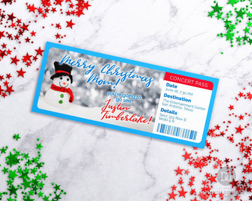 Snowman Event Pass Template Printable *EDIT ONLINE*