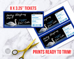 Swan Lake Ballet Ticket Template Printable