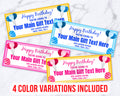Event Ticket Editable Printable- Birthday