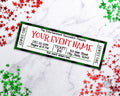 Christmas Event Ticket Template- Green Buffalo Check *EDIT ONLINE*