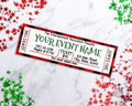Christmas Event Ticket Template- Red Buffalo Check *EDIT ONLINE*