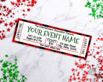 Christmas Event Ticket Template- Red Buffalo Check