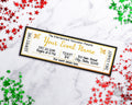 Gold Christmas Event Ticket Template *EDIT ONLINE*