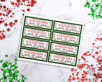 Christmas Event Ticket Template Editable Printable
