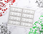 Editable and printable holiday event ticket template. These custom silver snowflake event tickets are the perfect way to send out invitations to Christmas parties, winter school plays, community events, family events, and more!