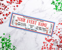 Snowman Christmas Event Ticket Template