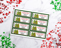 Christmas Tree Event Ticket Printable Editable